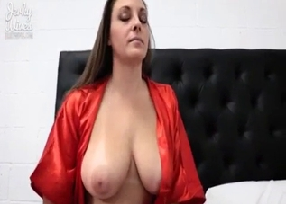 Busty brunette sucks her son's big dick