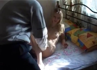 Blond-haired teen savagely raped by her dad