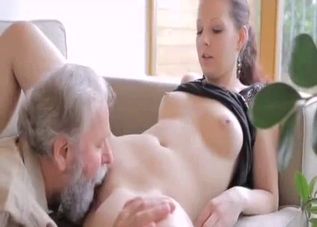 Ponytailed hottie has to fuck her father