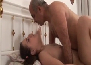 Chubby slut riding rides her father's cock