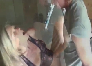 Two young boys molested by a blonde in a dress